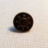 KZT--TNK019 Coston logo Metal button denim button Plastic inside button brass button