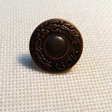 KZT--TNK020 Coston logo Metal button denim button Double tack button brass button